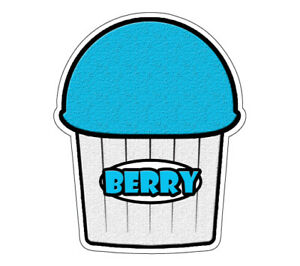 Berry Flavor Italian Ice 48 Decal Shaved Ice Cart Trailer Stand Equipment