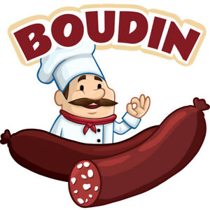 Boudin 48 Concession Decal Sign Cart Trailer Stand Sticker Equipment