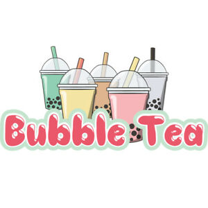 Bubble Tea 48 Concession Decal Sign Cart Trailer Stand Sticker Equipment