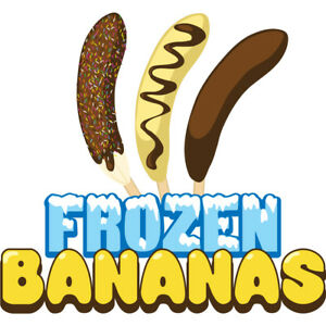 Frozen Bananas 48 Concession Decal Sign Cart Trailer Stand Sticker Equipment