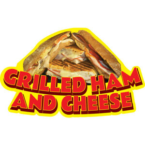 Grilled Ham And Cheese 48 Concession Decal Sign Cart Trailer Stand Sticker