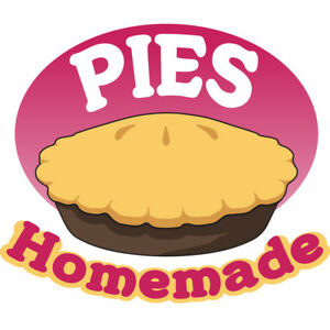 Pies Homemade 48 Concession Decal Sign Cart Trailer Stand Sticker Equipment
