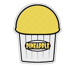 Pineapple Flavor Italian Ice 48 Decal Shaved Ice Sign Cart Trailer Sticker
