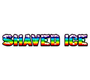Shaved Ice Concession 48 Decal Sign Cart Trailer Stand Sticker Equipment