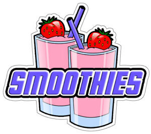 Smoothies Concession 48 Decal Drink Fruit Smoothie Sign Cart Trailer Sticker