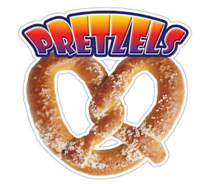 Soft Pretzel I Concession 48 Decal Sign Cart Trailer Stand Sticker Equipment