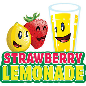 Strawberry Lemonade 48 Concession Decal Sign Cart Trailer Stand Sticker