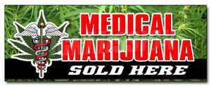 48 Medical Marijuana For Sale Decal Sticker Weed Pot Prescription Coffee Shop