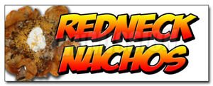 48 Redneck Nachos Decal Sticker Redneck Chips Tater Tots Cheese Bacon