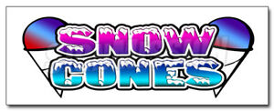 48 Snow Cones 1 Decal Sticker Sno Cone Kones Stand Supplies Ice Equipment
