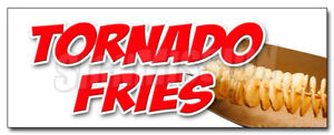 48 Tornado Fries Decal Sticker Spiral Cut Deep Fried On A Stick Potatoes