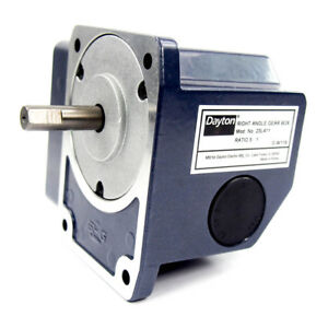 Continuous Speed Reducer Right Angle Gear Box 5 1 Ratio 0 03 Input Hp
