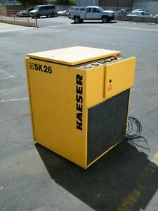 1995 Kaeser Sk26 20 Hp Rotary Screw Air Compressor Ingersoll Rand Quincy