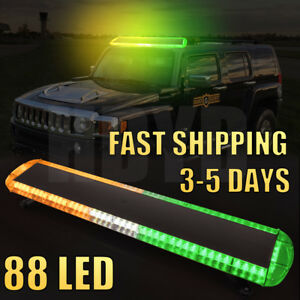 47 88led Strobe Light Bar Emergency Warning Tow Truck Response Amber White Green