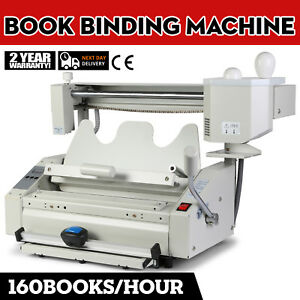 Perfect A4 Book Binding Machine Hot Melt Glue Book Paper Binder Puncher Milling