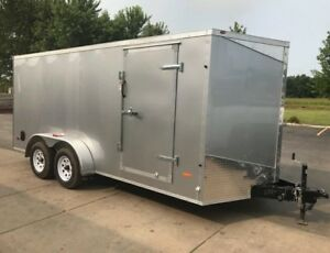 7x16 2018 V nose Enclosed Motorcycle Cargo Trailer Mti Rc