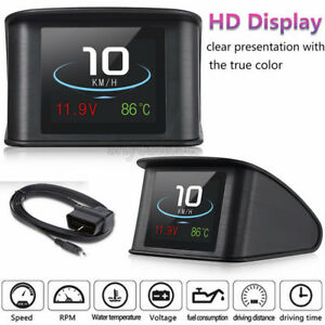 Auto Car Hud Led Heads Up Display Obd Scanner Obd2 Digital Speedometer Detector