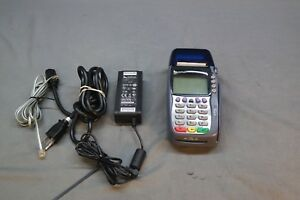 Verifone Vx570 Omni 5750 Credit Card Machine With Power Cord And Phone Line
