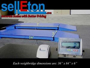 New 60 000 Lb Axle Truck Weighing Scale For Cars Trailers W Printer Indicator