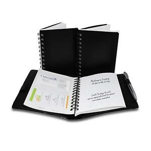 Business Card Organizer Notebook 3 Notebooks 1 Reusable Cover Pen Included