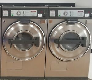 Used Continental 30lb Coin Laundry Commercial Washer Extractor 3 phase