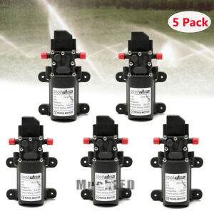 5 Pack 130 Psi 6l min High Pressure Diaphragm Self Priming Water Pump Dc 12v 70w