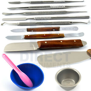 Dental Laboratory Technician Waxing Modelling Carvers Cement Mixing Spatula Bowl