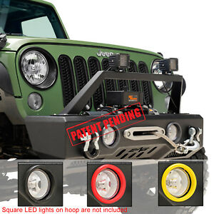 Stubby Front Bumper Fit For 07 19 Jeep Wrangler Jk Jl Unlimited Rubicon Sahara