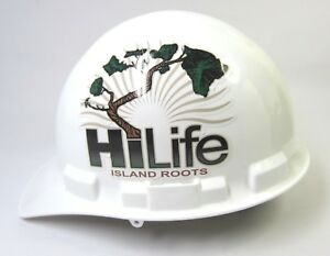 Hilife Island Roots White Hard Hat Dakine Adjustable Size 6 To 8 Usa Excellent