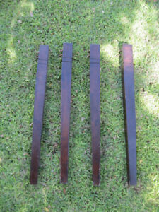 Vintage Table Legs 4 Tapered With 2 Lines Hardware Included Heavy 2lbs Each