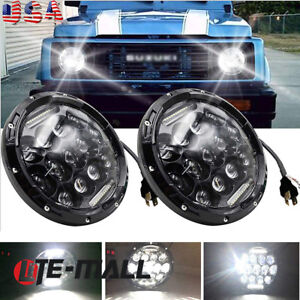 For Suzuki Samurai Sj410 7 Led Headlights Hi lo Beam Projector Headlight X2