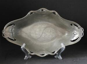 Antique Art Nouveau Jugendstil Fruit Bowl Candy Dish By Orivit 2178 C 1900