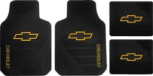 Officially Licensed Chevy Factory Style Heavy Duty Rubber Floor Mats Set