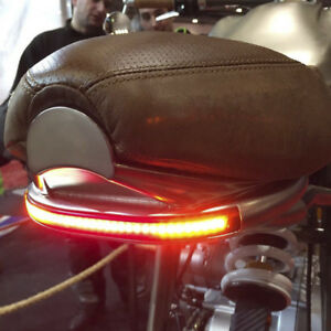 12v Amber Led Motorcycle Tail Light Turn Signal Brake Running Flowing Strip Lamp