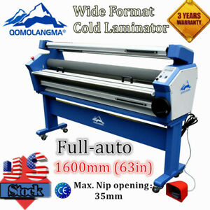 Us Stock Qomolangma 63in Wide Format Full auto Cold Laminator With Heat Assisted