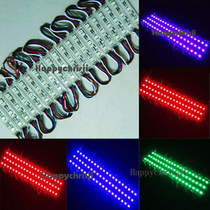 200pcs 5050 Rgb Led Module Smd 3 Leds Window Light Waterproof 0 72w 12v Dc