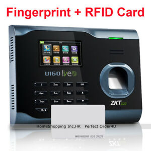 Zkteco Biometric Fingerprint Attendance Time Clock Id Card Wifi Tcp ip Usb