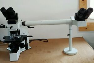 Olympus Microscope Bx40 With Side By Side Bridge