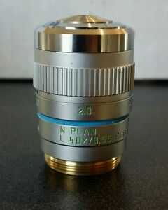 Leica Microscope N Plan L 40x Phase Contrast Objective With Correction Collar