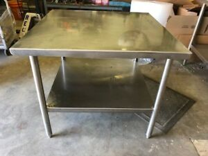 3 X 3 Stainless Steel Heavy Duty Commercial Prep Work Table Bottom Shelf Nsf