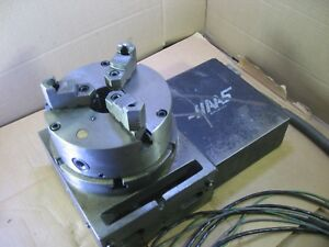 Haas 210 Cnc 4th Axis Rotary Table With 8 3 Jaw Chuck