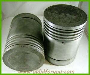 F1075r John Deere G Gas Pistons Wrist Pins And Keepers Cast Iron Pair