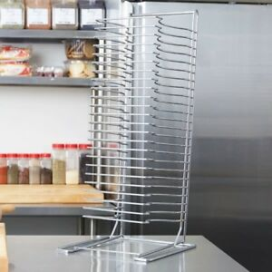 24 Slot Pizza Pan Wire Rack Stand Restaurant Tray Dough Baking Screen Shelf