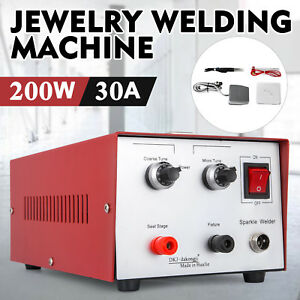 30a 200w Spot Welder Jewelry Welding Machine 220v Pulse Sparkle Titan Foot Pedal