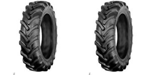 two Galaxy 8 16 8x16 Traction R 1 Lug Tractor Tires Tubeless 6 Ply Rated