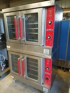 Vulcan Vc4ed Electric Double Stack Full Size Convection Oven 208v 3 Phase