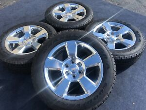 New Genuine Chevrolet Silverado Tahoe Ltz Wheels Tires Rims Oem Factory Polish