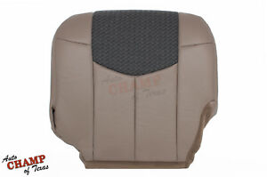 2002 Chevy Avalanche Lt Z71 Z66 Driver Side Bottom Leather Seat Cover Tan