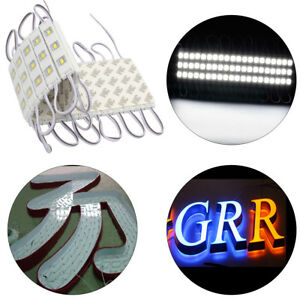 Led Sign Letter Advertisement Light 3 Led segment 12v 5630 Cold White Outdoor