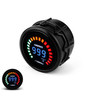 2 Inch 52mm Universal Car Digital Blue Led 0 10000 Rpm Tachometer Gauge Meter